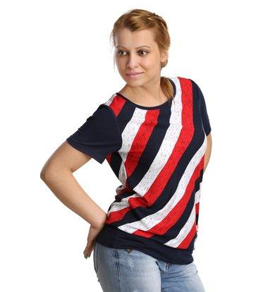 Жен. блуза арт. 16-0172 Красный р. 58