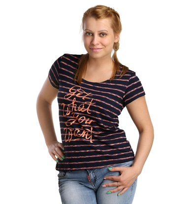 Жен. футболка арт. 16-0174 Коралловый р. 46