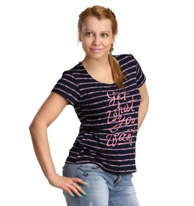 Жен. футболка арт. 16-0174 Розовый р. 46