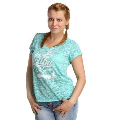 Жен. футболка арт. 16-0175 Зеленый р. 44