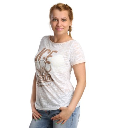 Жен. футболка арт. 16-0177 Белый р. 42