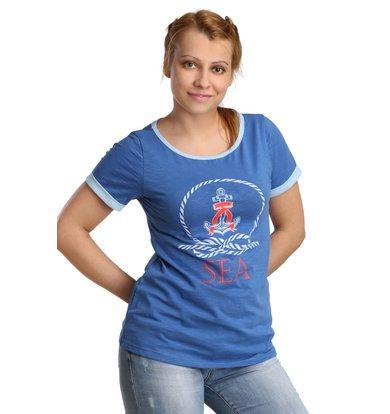 Жен. футболка арт. 16-0187 Синий р. 44