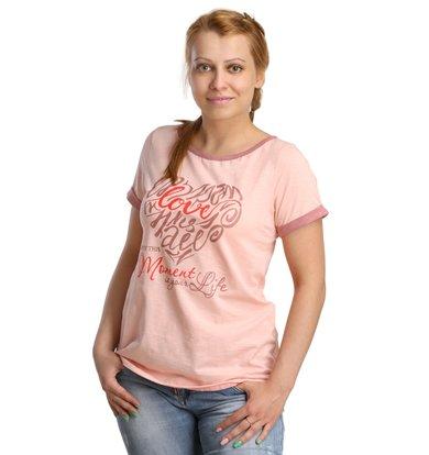 Жен. футболка арт. 16-0188 Персиковый р. 44
