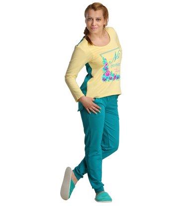 Жен. костюм арт. 16-0198 Изумрудный р. 44