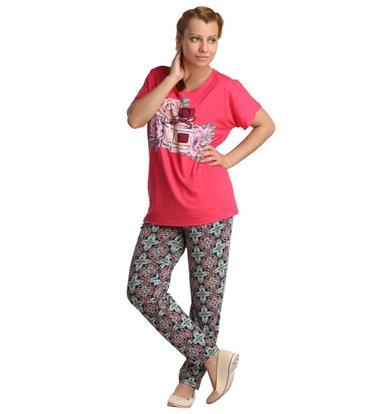 Жен. костюм арт. 16-0148 Розовый-коралл р. 48