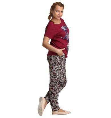 Жен. костюм арт. 16-0203 Бордовый р. 46