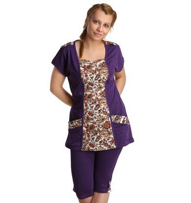 Жен. костюм арт. 16-0137 Фиолетовый р. 50