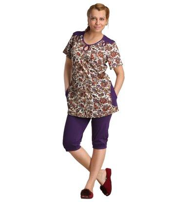Жен. костюм арт. 16-0126 Фиолетовый р. 48