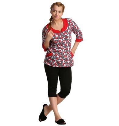 Жен. блуза арт. 16-0208 Красный р. 50
