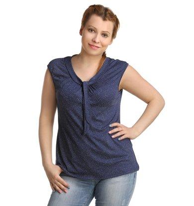 Жен. блуза арт. 16-0222 Темно-синий р. 54