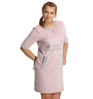 Жен. платье арт. 16-0237 Сухая роза р. 56