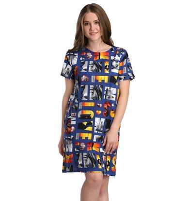 Жен. платье арт. 16-0239 Синий р. 46