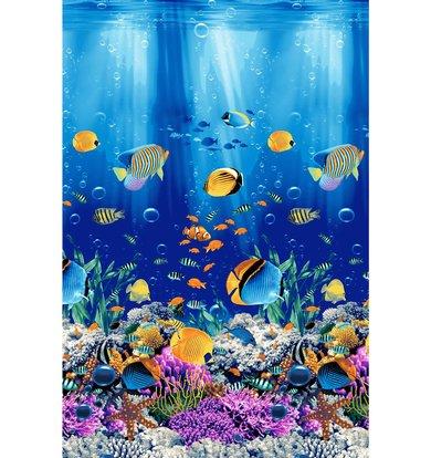 """Вафельное полотенце """"Подводный мир"""" р. 100х150"""