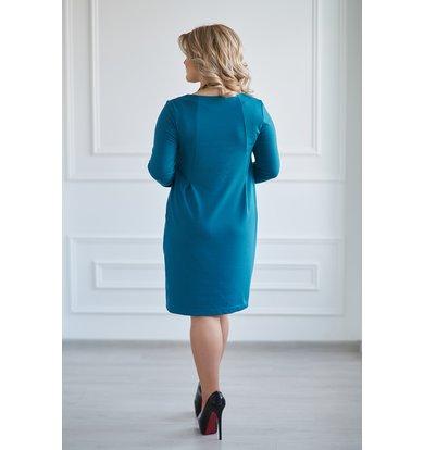 Жен. платье арт. 19-0005 Темно-изумрудный р. 46