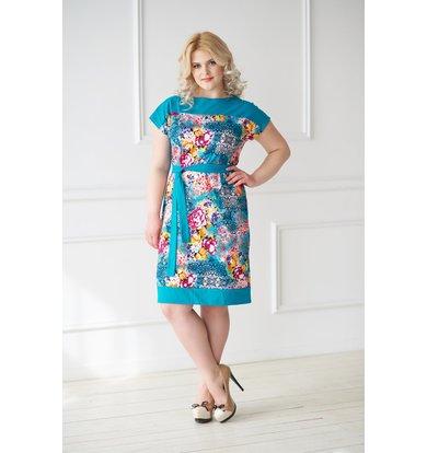 Жен. платье арт. 19-0045 Изумрудный р. 44
