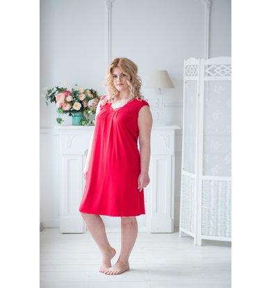 Жен. сорочка арт. 19-0041 Красный р. 50