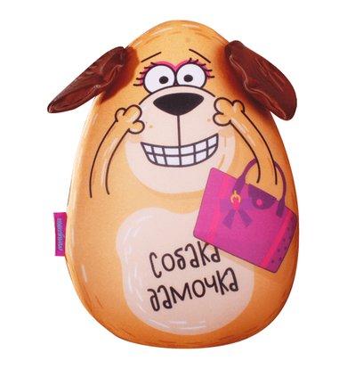 "Игрушка-подушка ""Собака Дамочка"" р. 30х21"