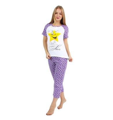 Жен. костюм арт. 16-0240 Фиолетовый р. 44
