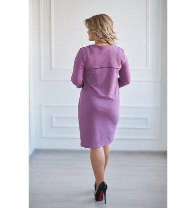 Жен. платье арт. 19-0025 Сиреневый р. 46