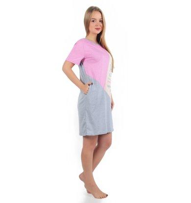 Жен. платье арт. 16-0256 Персиково-розовый р. 46