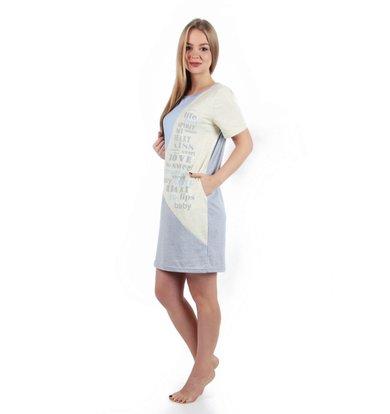 Жен. платье арт. 16-0256 Желто-голубой р. 46