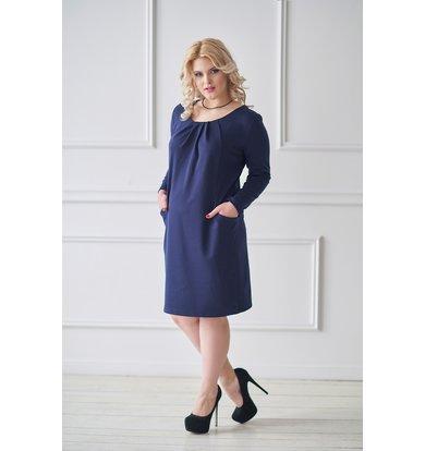 Жен. платье арт. 19-0031 Синий р. 46