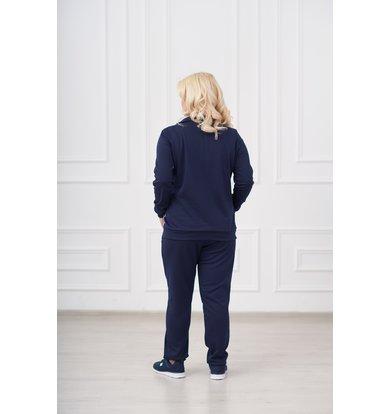 Жен. костюм арт. 19-0008 Синий р. 62