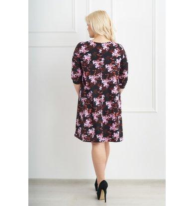 Жен. платье арт. 19-0072 Шоколадный р. 48