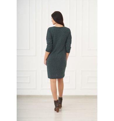 Жен. платье арт. 19-0075 Изумрудный р. 58