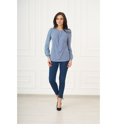 Жен. блуза арт. 19-0073 Синий р. 44