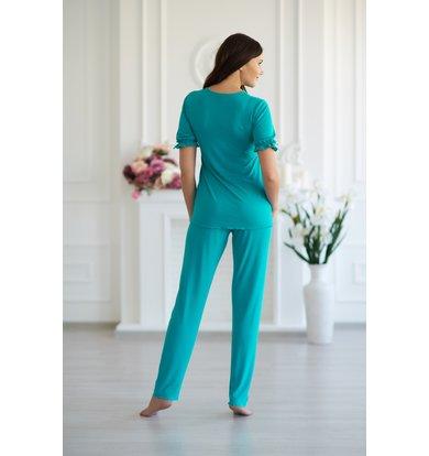 Жен. пижама арт. 19-0087 Аквамарин р. 42