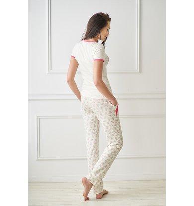 Жен. пижама арт. 19-0084 Кремовый р. 52
