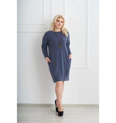 Жен. платье арт. 19-0075 Индиго р. 44