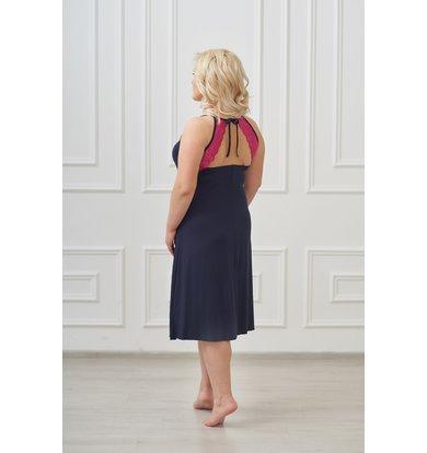 Жен. сорочка арт. 19-0019 Темно-синий р. 52