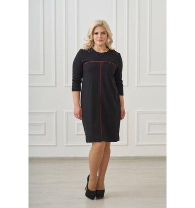 Жен. платье арт. 19-0025 Черный р. 46