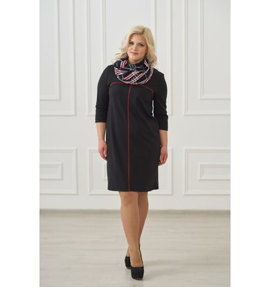 Жен. платье арт. 19-0025 Черный р. 54