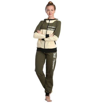 Жен. костюм арт. 16-0233 Хаки р. 46
