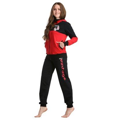 Жен. костюм арт. 16-0231 Красный р. 46