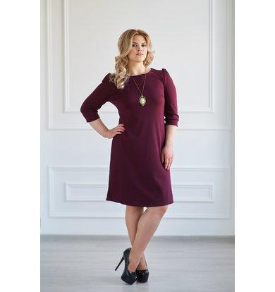 """Жен. платье """"Модное"""" Бордо р. 42"""