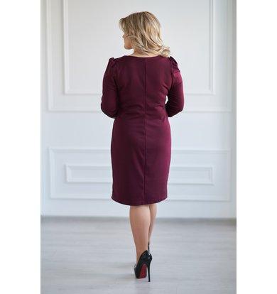 """Жен. платье """"Модное"""" Бордо р. 52"""