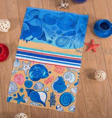 """Вафельное полотенце """"Пляж"""" р. 50х70"""