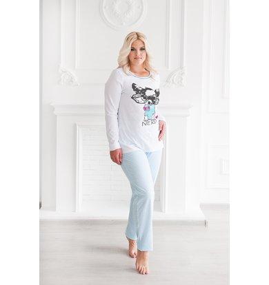 """Жен. пижама """"С брюками"""" Бирюза р. 44"""