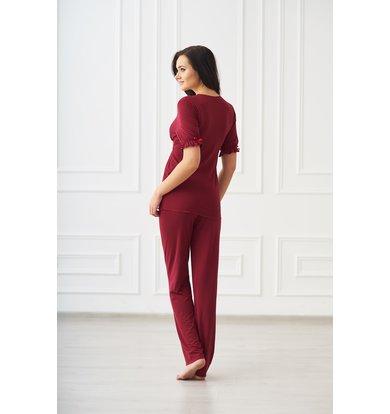 Жен. пижама арт. 19-0087 Бордо р. 42