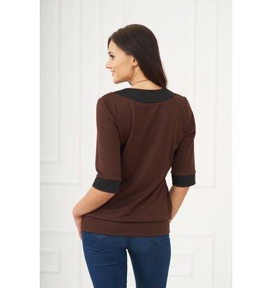 Жен. блуза арт. 19-0091 Шоколадный р. 46
