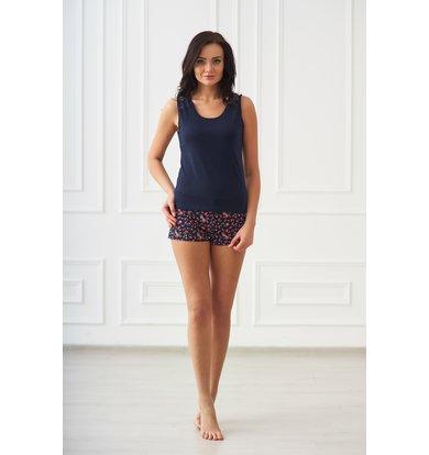 Жен. пижама арт. 19-0129 Темно-синий р. 52