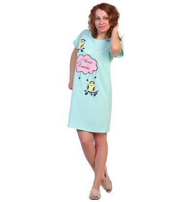 Жен. сорочка арт. 16-0309 Ментоловый р. 46