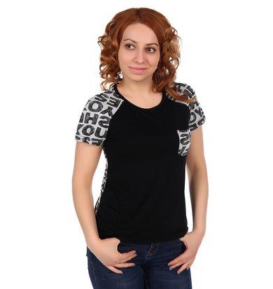 Жен. футболка арт. 16-0310 Черный р. 56