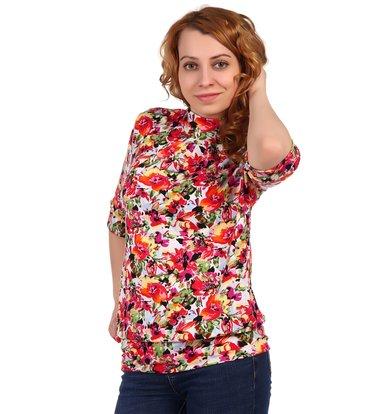 Жен. блуза арт. 16-0317 Оранжевый р. 60