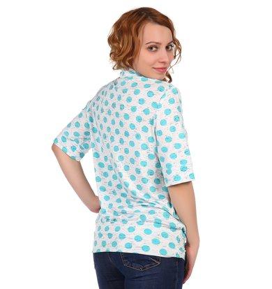 Жен. блуза арт. 16-0318 Ментоловый р. 50