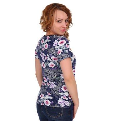 Жен. блуза арт. 16-0319 Темно-синий р. 58